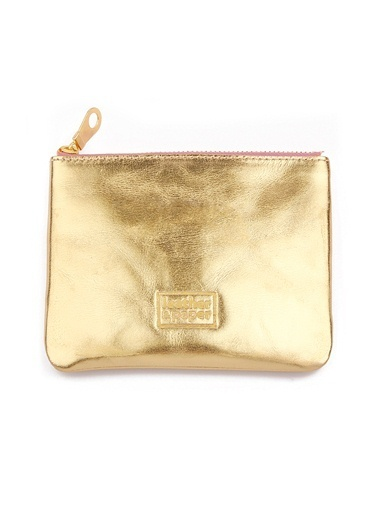Leather & Paper Deri Mini Çanta Altın